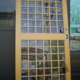店舗ガラスドア修理