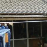 松戸市入口前の屋根設置